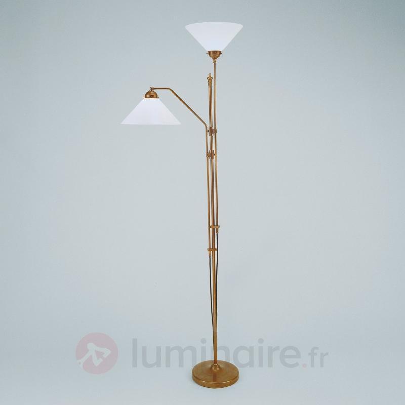 Lampadaire à éclairage indirect MATILDE et liseuse - Lampadaires à éclairage indirect