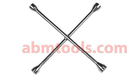 Standard Lug Wrench - 4 Way Wheel Spanner - A socket wrench used to turn lug nuts on automobile wheels.