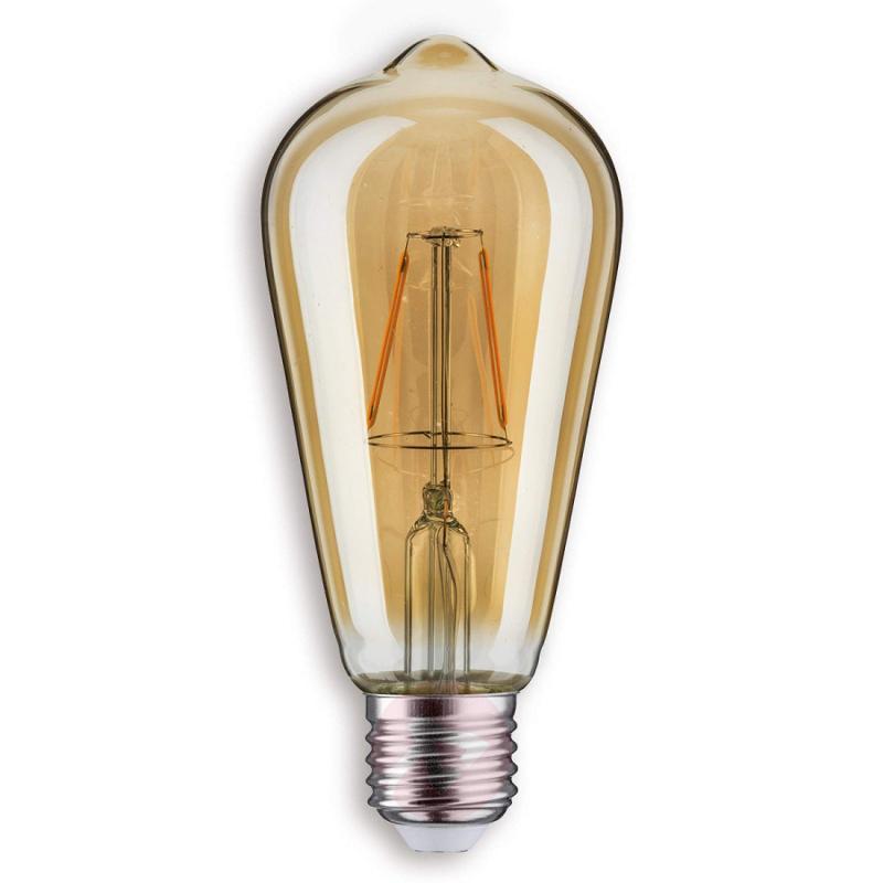 E27 2.5W LED rustic bulb in gold - light-bulbs