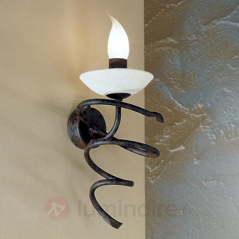 Applique MAURO au style rustique avec verre Scavo - Appliques rustiques