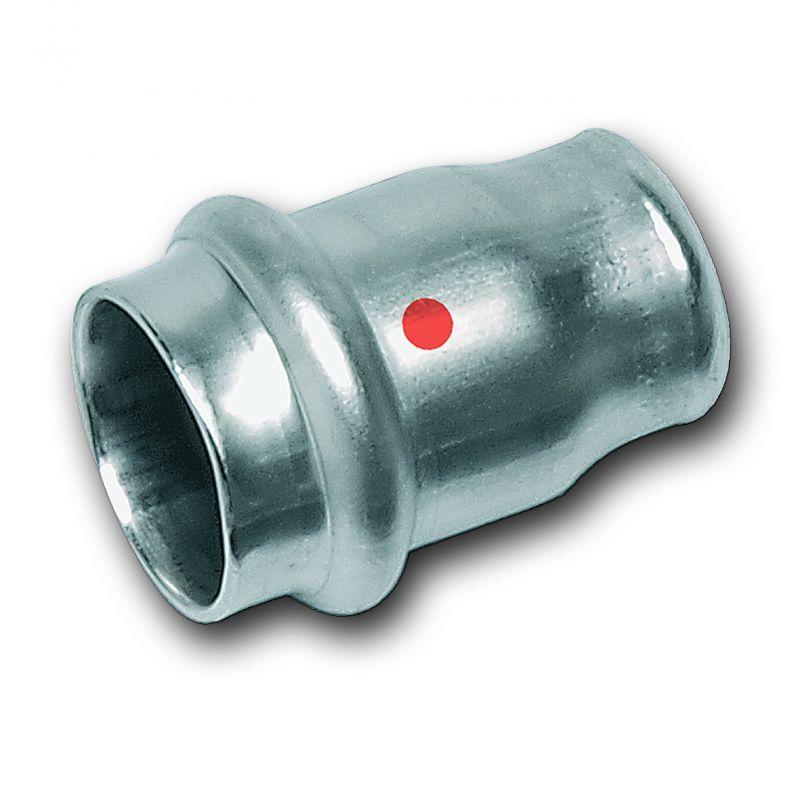 Kappe, mit Pressanschluss aus Edelstahl - Hochwertige Edelstahl-Pressfittings und Edelstahlrohre 1.4301 (AISI 304), EPDM