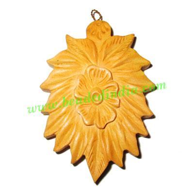 Handmade wooden fancy pendants, size : 51x36x9mm - Handmade wooden fancy pendants, size : 51x36x9mm