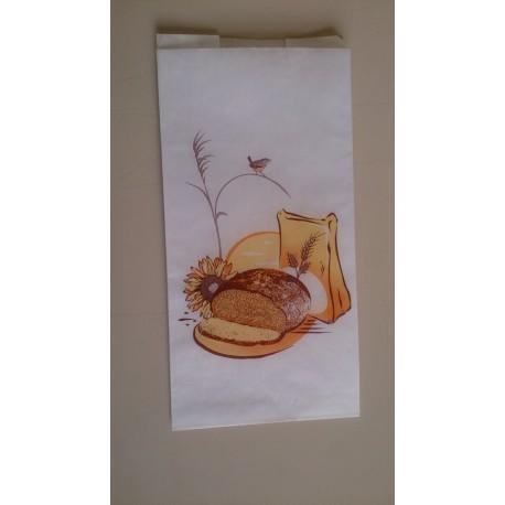 """Sacs à Pain kraft blanc paraffinés - Sacs à pain Petit rond """"Soleil"""""""