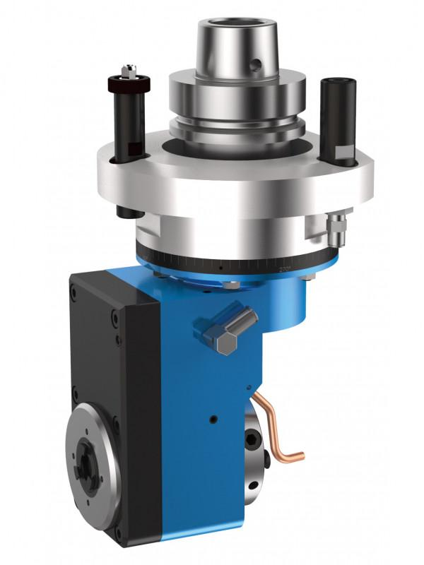 Lock recess trimming unit FORTE - CNC lock recess unit with recessed spindle output for machining of wood