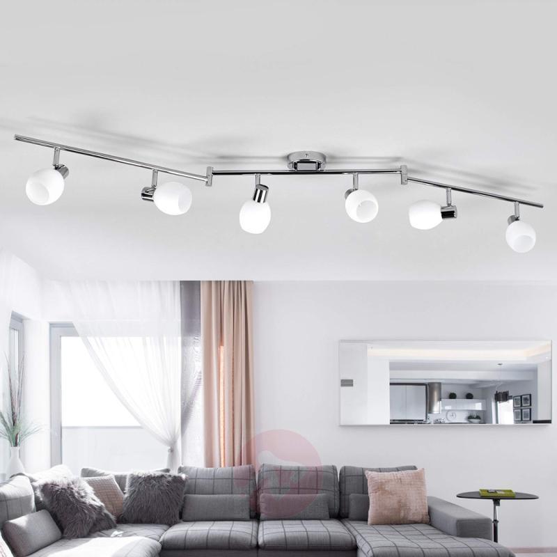 6-bulb glass ceiling light Aidan, LEDs - indoor-lighting