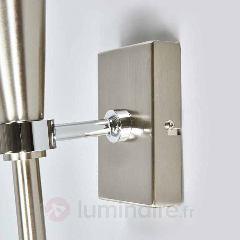 Torche murale LED moderne Liddy, nickel mat - Torches murales