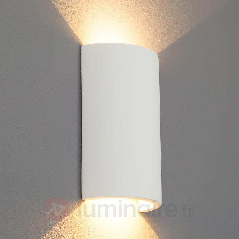 Applique en plâtre LED Gideon semi-circulaire - Appliques en plâtre