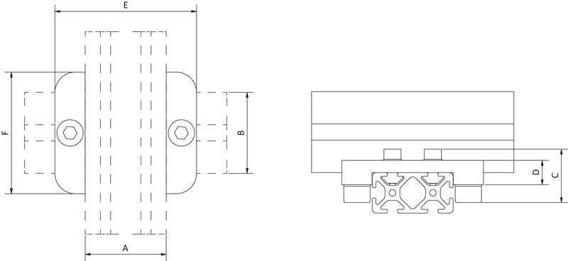Adapter-Kreuzplatten - null