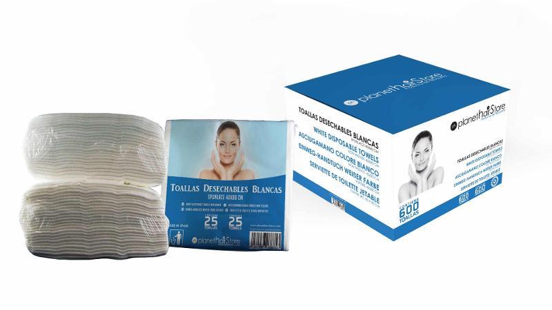 Toalla Desechable Spunlace 40×80 Blancas Planethair Store® - null