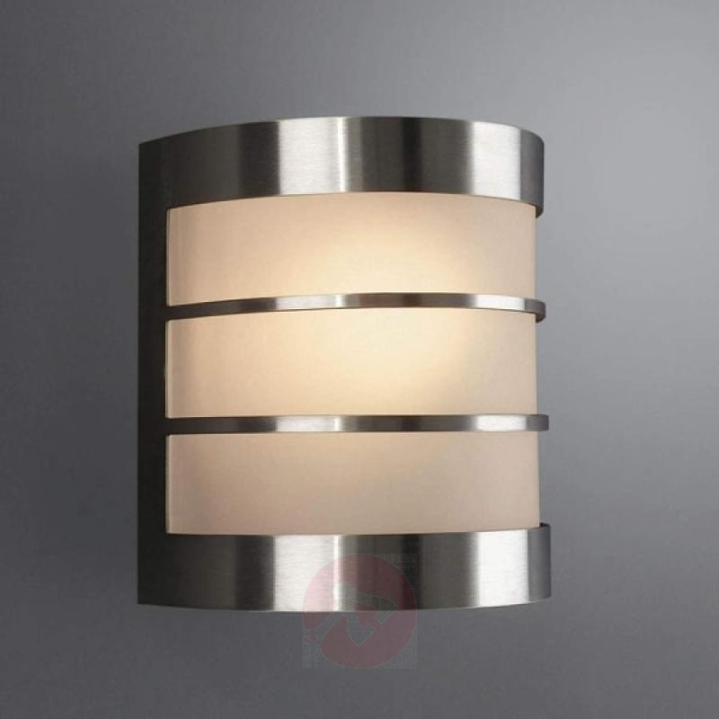 Low-maintenance wall lamp CALGARY stainless steel - stainless-steel-outdoor-wall-lights