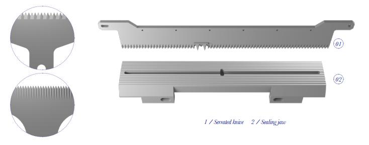 VERTICAL CUT - BISCUITS AND PASTRY CUTTING BLADES