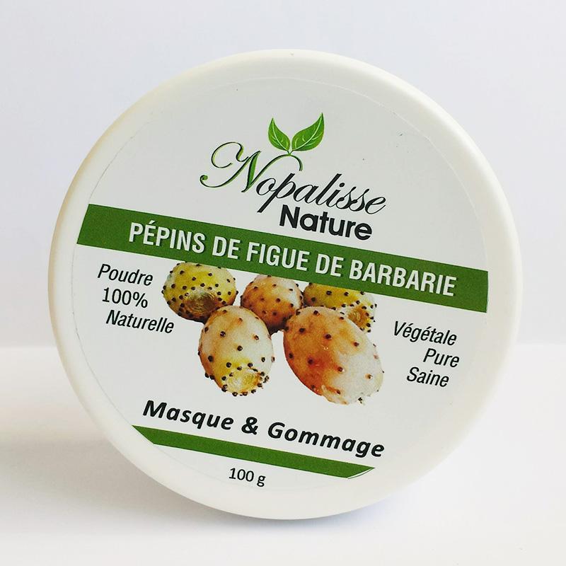 Poudre de pépins de figue de barbarie - Masque et gommage