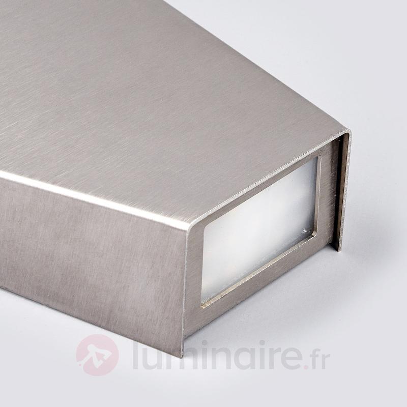 Grande applique LED Lania IP44, inox - Appliques LED