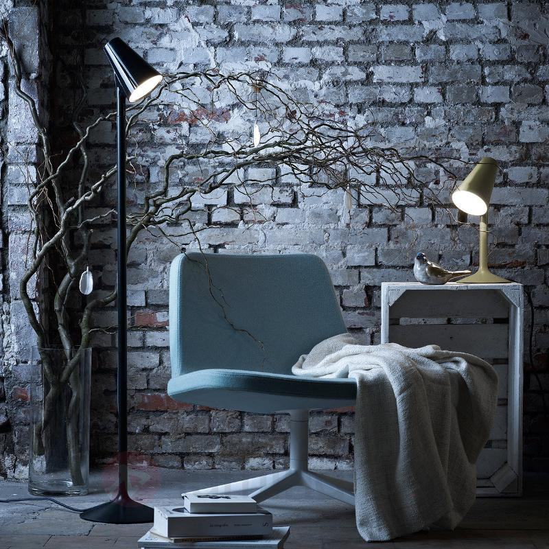 Lampadaire de designer Piculet avec LED, noir - Lampadaires LED