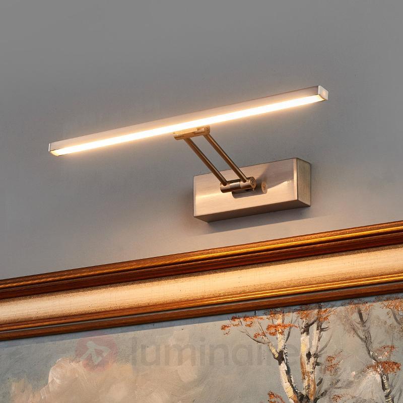 Applique tableau LED Emilias couleur nickel - Appliques à tableaux