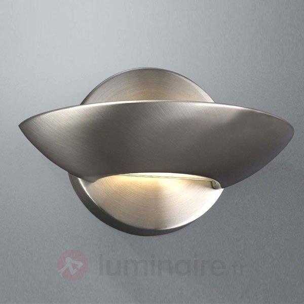 Applique halogène NICOLE acier brossé - Appliques chromées/nickel/inox