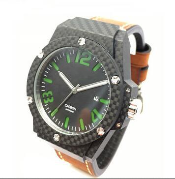 carbon fiber watches GCC18010C - new fashion real forged carbon firber mechanical watch manufacturer in china