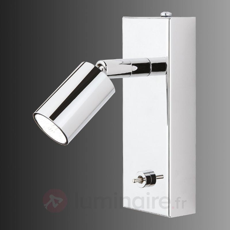 Applique LED Karen avec interrupteur à bascule - Appliques chromées/nickel/inox
