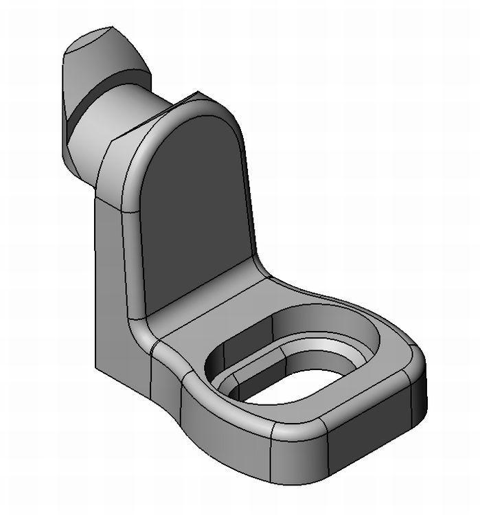 Rückwandhalter Standard kurz - Zamak - blank - Rückwandhalter