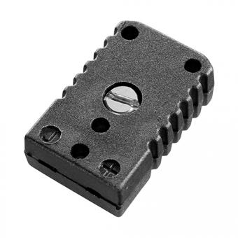 Miniature socket type J, black - Thermocouple connectors