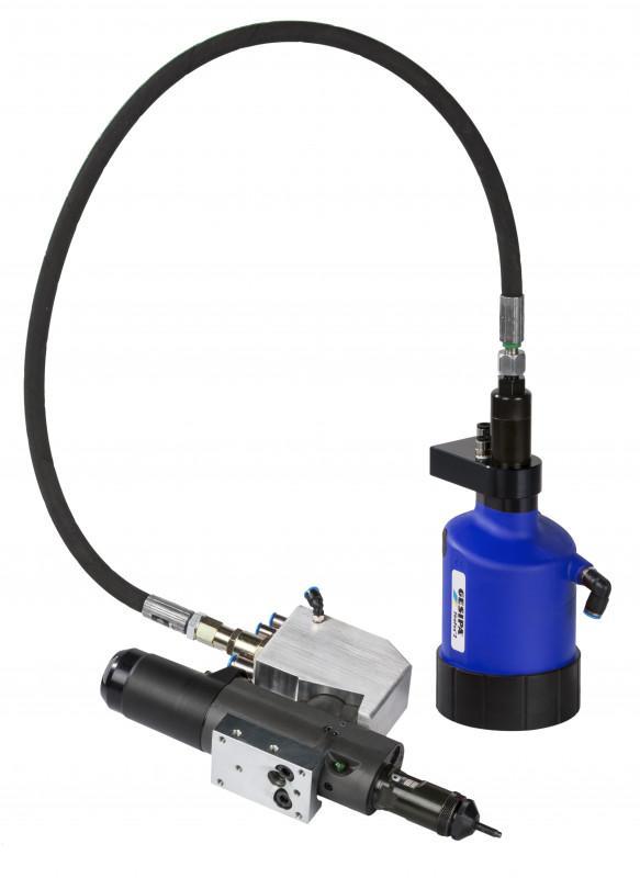FireRex® - blind rivet nut setting tool as robot application - Hydropneumatic blind rivet nut setting tool