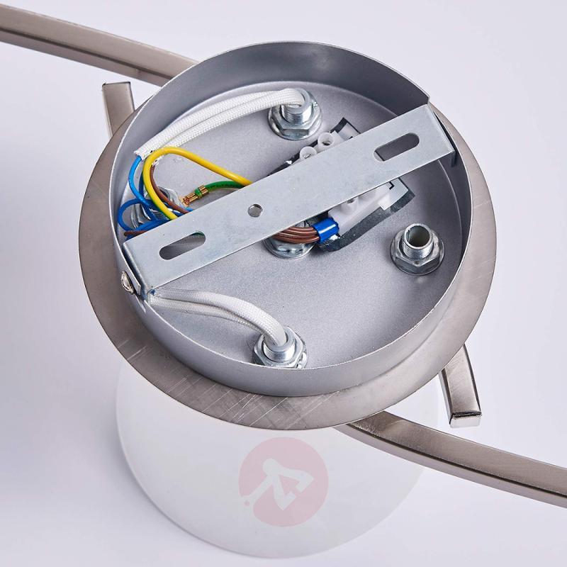 5-bulb LED ceiling lamp Della, matt nickel - indoor-lighting