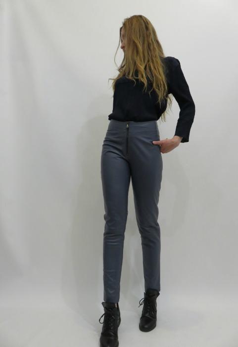 Кожаные штаны - Кожаные штаны на молнии