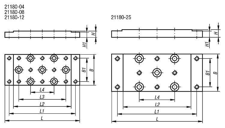 Plaque de base de montage - Système de positionnement