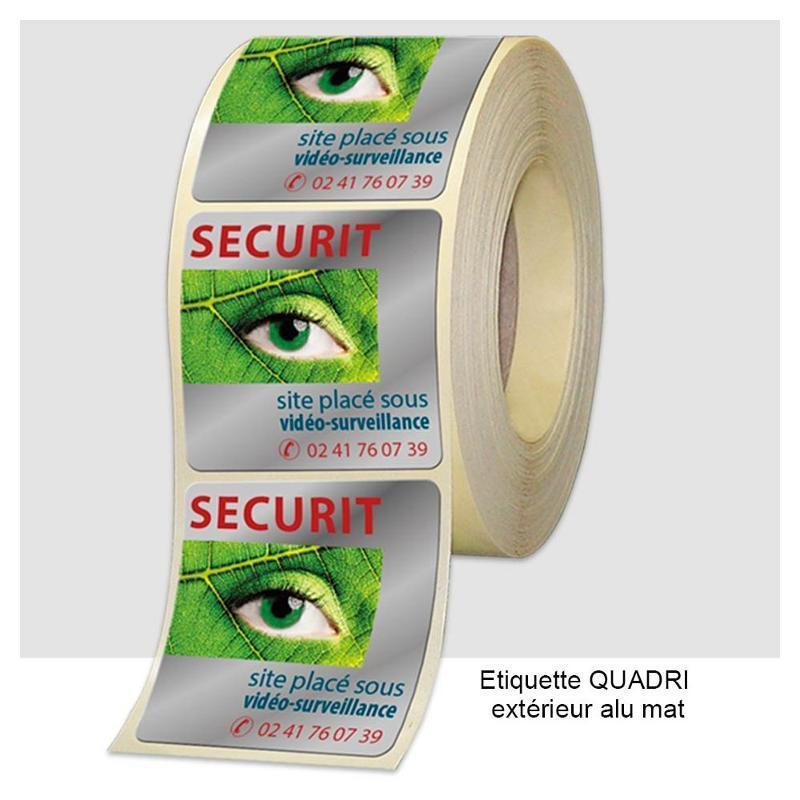 Étiquettes industrielles QUADRI - usage extérieur - Étiquettes industrielles