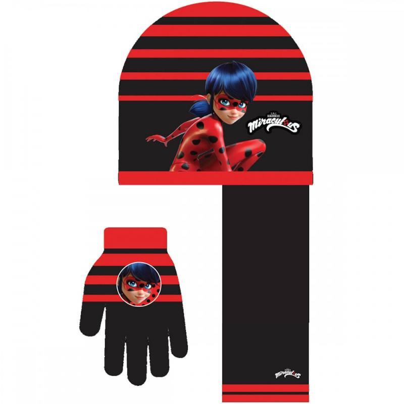 3x Echarpes et bonnets et gants LadyBug - Bonnet Gant Echarpe