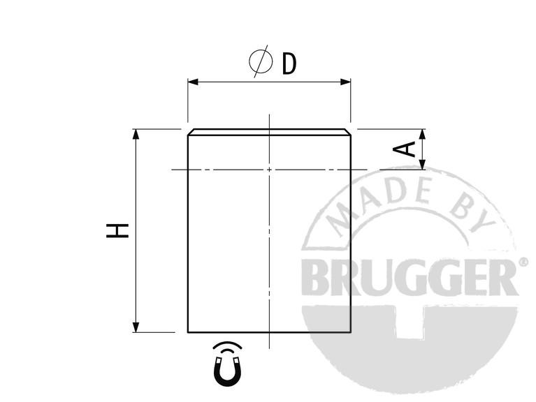 Bar magnets AlNiCo, steel body, zinc coated - null