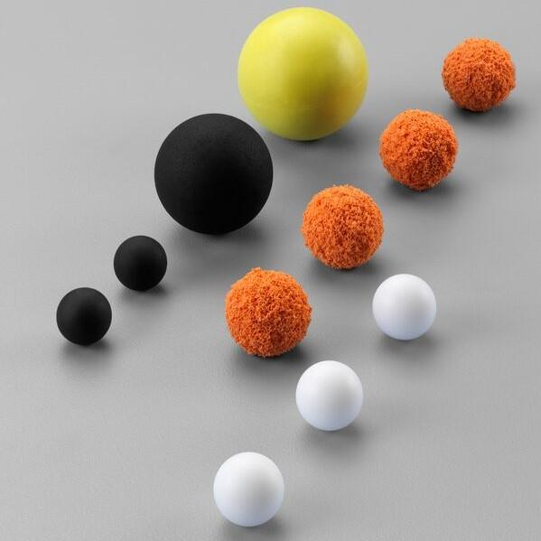 Balls - Screen beater balls and valve balls in various designs!