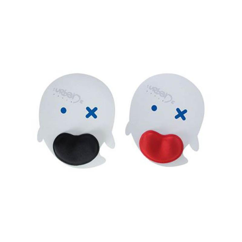 Tapis de souris ergonomique blanc/poignet noir - Tapis de souris publicitaires