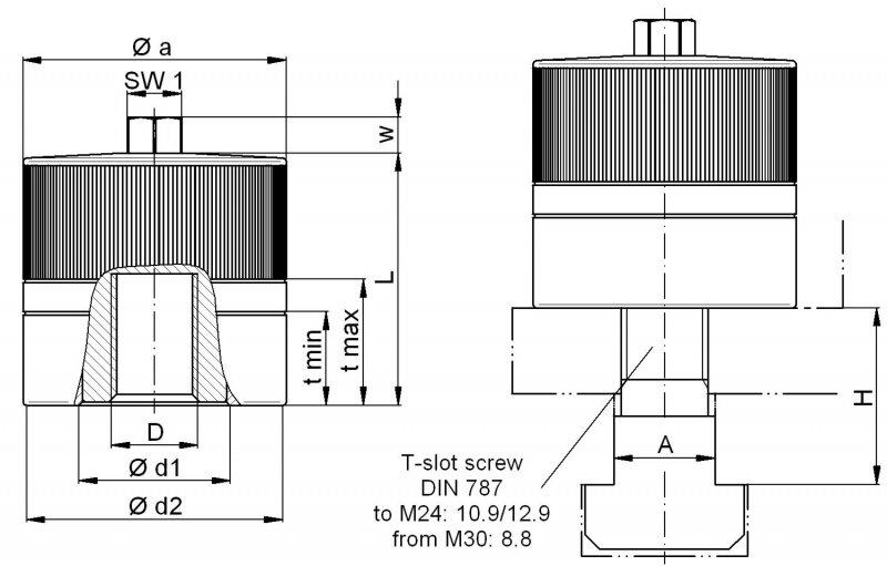 Power clamping nut MCA - centered operation, high clamping forces - low tightening torques