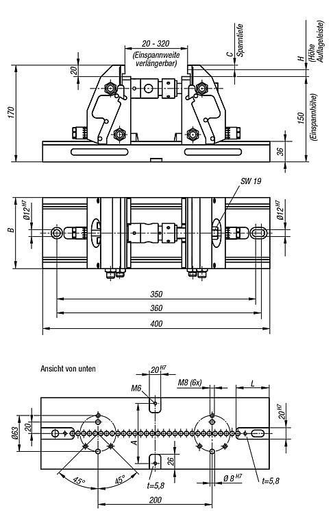 Spanntechnik - 5-Achs-Spanner kompakt Spannbacken glatt