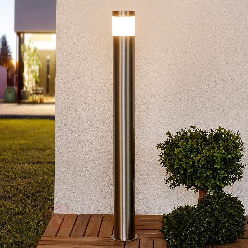 Éclairage cylindrique pour chemin LED Belina inox - Bornes lumineuses LED