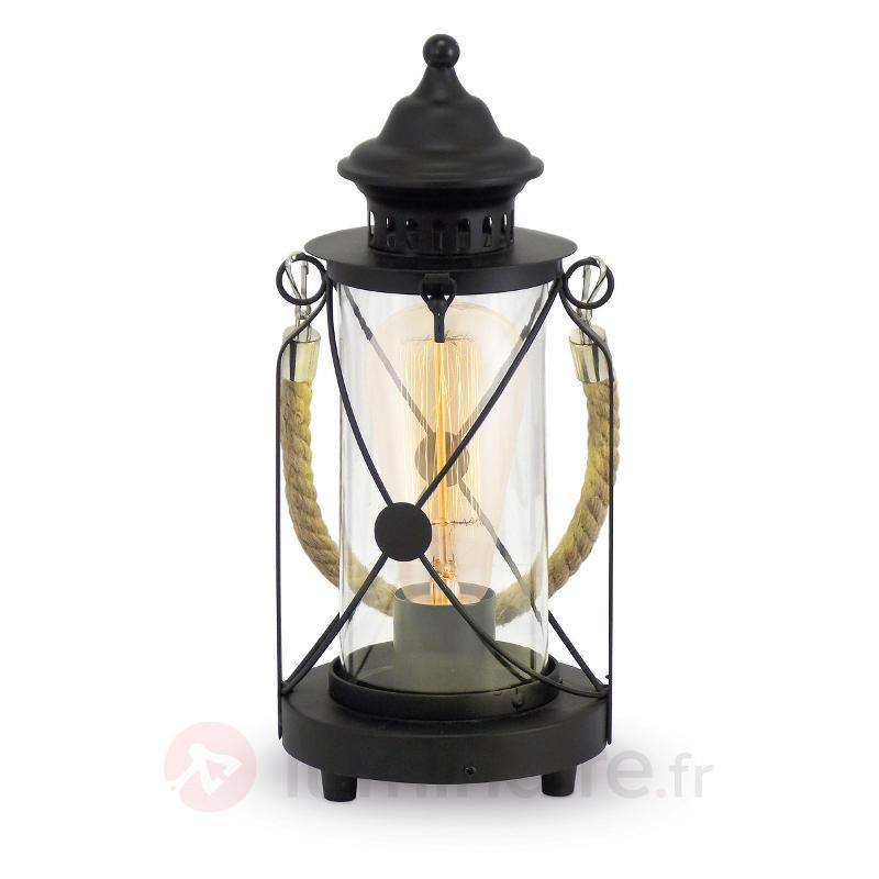 Lampe-lanterne noire à poser Kirian - Lampes à poser pour rebord de fenêtre