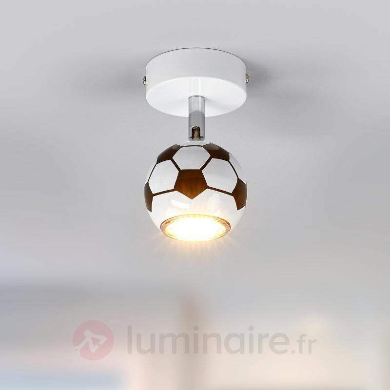 Spot mural à LED Play dans un design football - Chambre d'enfant