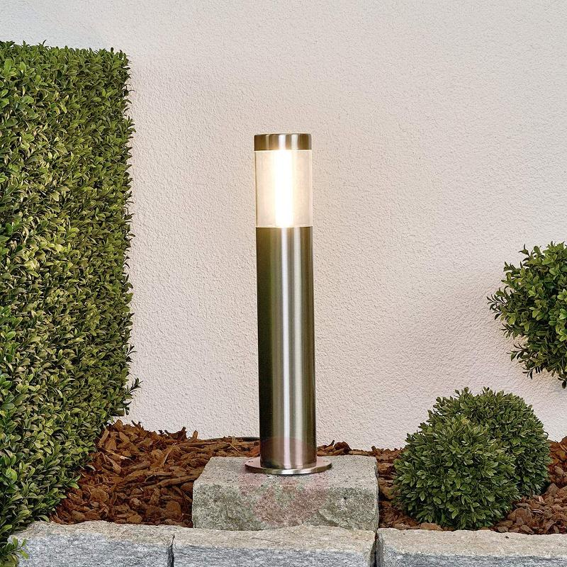 Linear LED pillar light Ellie, stainless steel - Pillar Lights