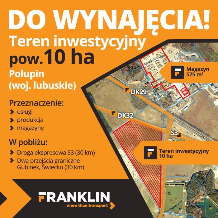 INVESTMENT AREA FOR RENT - 10 ha, Polupin, Lubuskie Voivodeship, POLAND