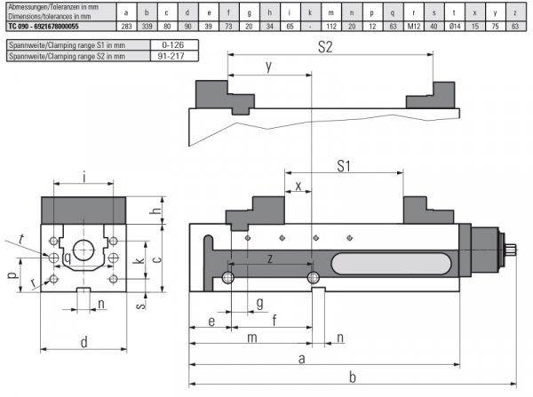 Version TC 090 MECHANISCH - Horizontal & vertikal einsetzbar – somit für vertikale & horizontale Fräscentren