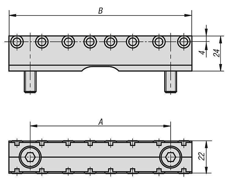 Mâchoire avec pointes pour mors intermédiaire - Etau de bridage 5 axes compact