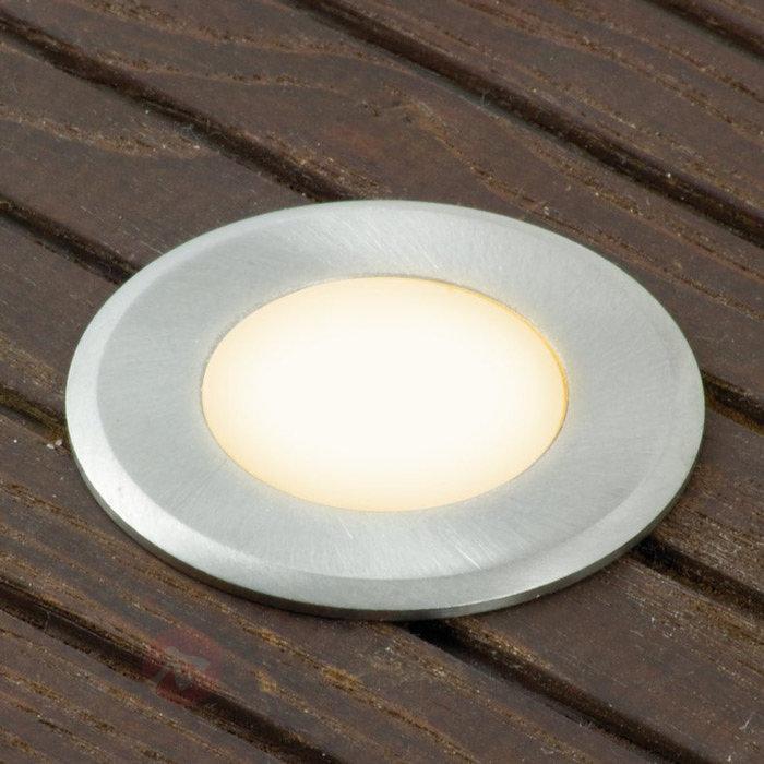 Kit de 3 spots encastrables LED Nürnberg III rond - Luminaires LED encastrés au sol