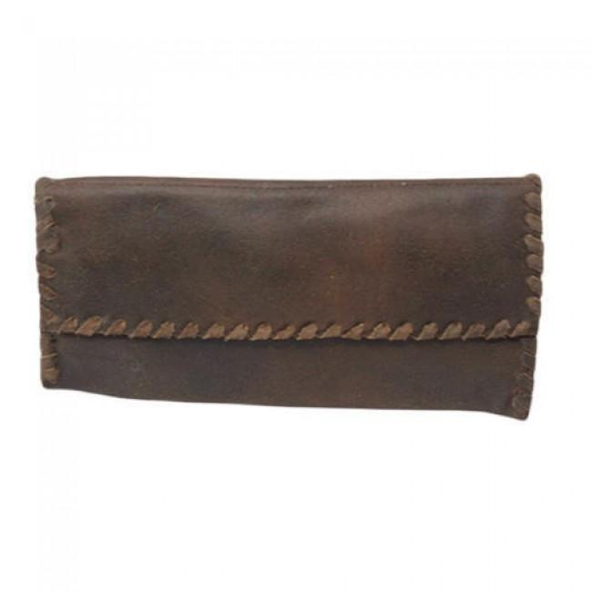 Ladies leather wallet - Leather Buffalo crazy horse