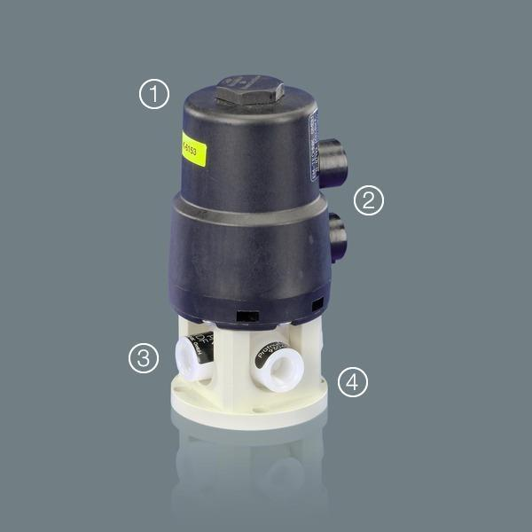 ball valves - Ball Valves 6D with pneumatic actuator (STANDARD)