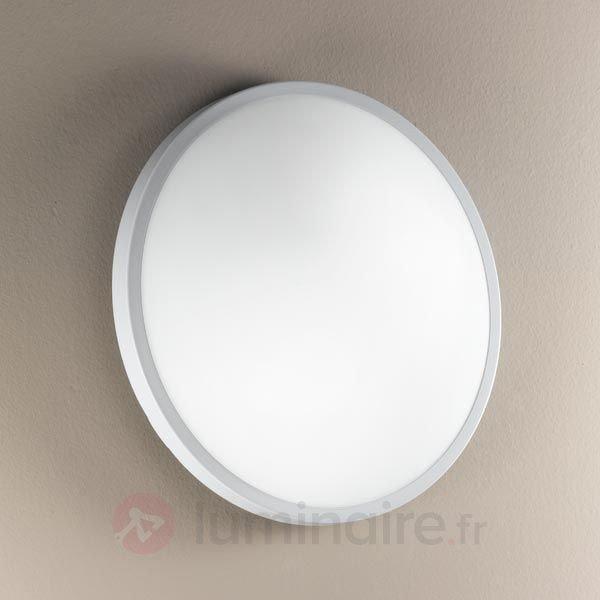Plafonnier et applique PLAZA en verre 31 cm - Appliques chromées/nickel/inox