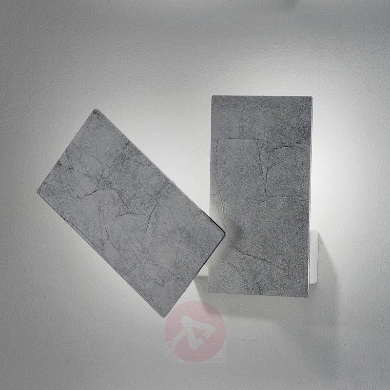 LED wall light Time with an elegant silver design - Ceiling Lights