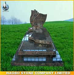 Haobo Stone Top Quality French Style Paradiso Tombstone Prices,Granite Tombstone
