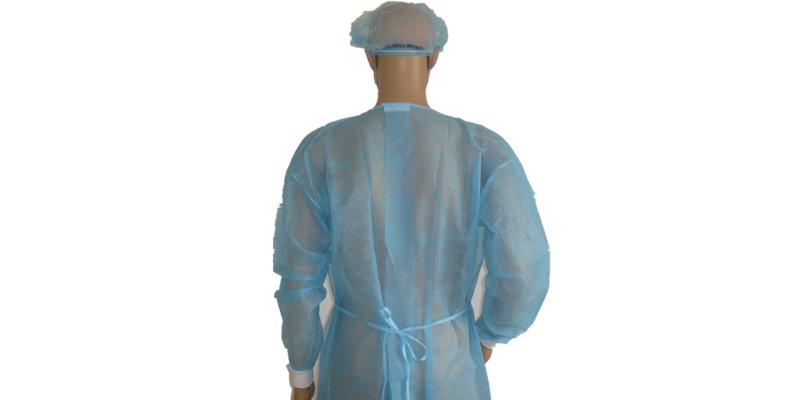 Blue PP Surgical Gown -