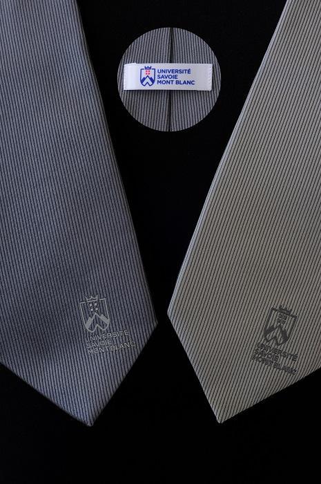 2 cravates en soie grises